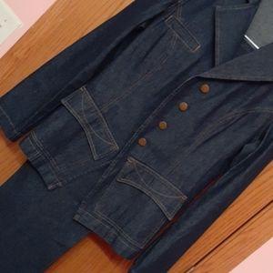 Blue Jean Pantsuit